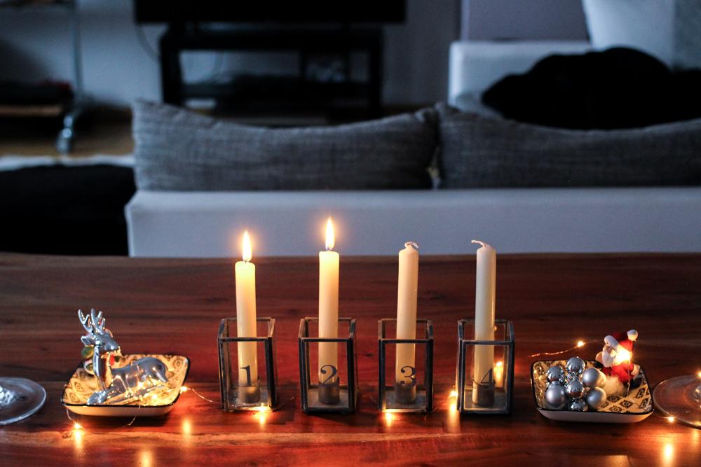 Weihnachtsdekoration Deko Idee Weihnachten Ediths Interior Adventskerzen Lifestyle Blog