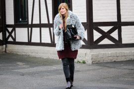 Ankle Boots in Patchwork-Optik Teddy Jacke kombinieren Winteroutfit OOTD Modeblog