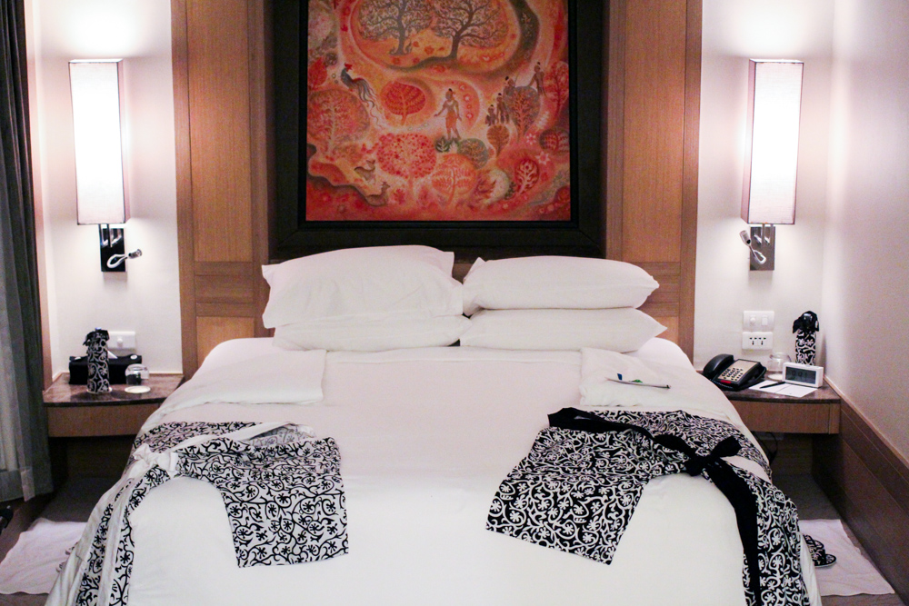 Banyan Tree Bangkok Hotel Hotelzimmer Bett Serenity Club Reiseblog