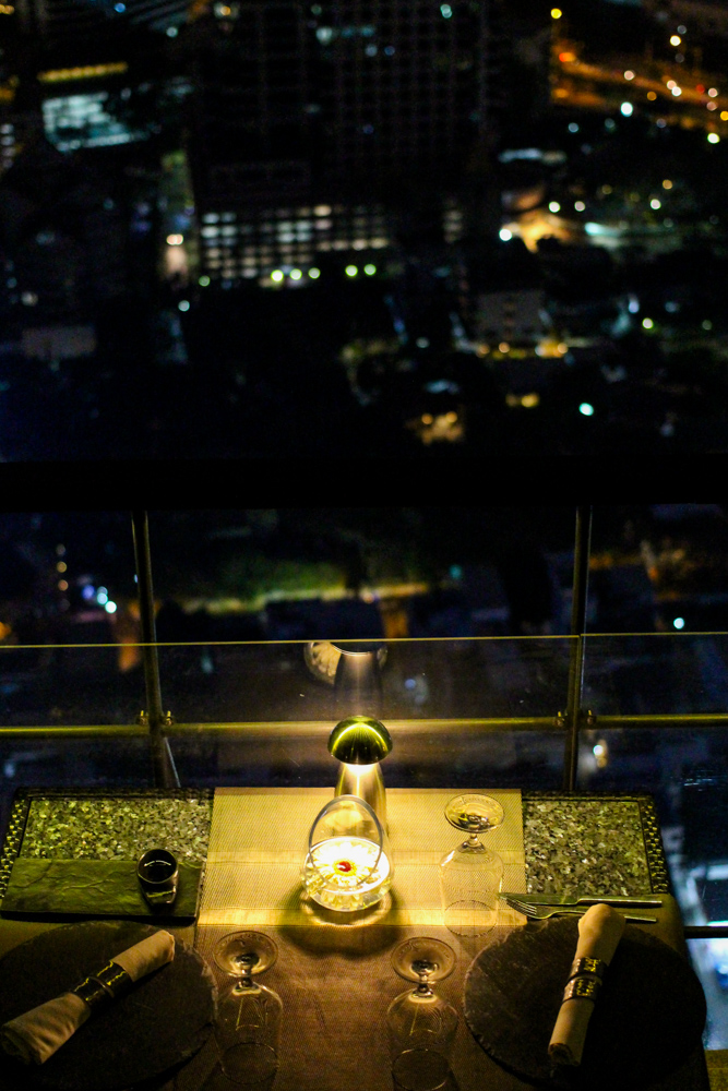 Banyan Tree Bangkok Hotel Restaurant Vertigo sky view rooftop Bangkok sightseeing Highlight Reiseblog
