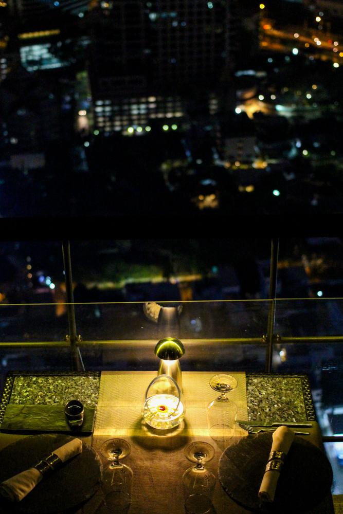 Banyan Tree Bangkok Hotel Restaurant Vertigo sky view rooftop Bangkok sightseeing Highlight Reiseblog