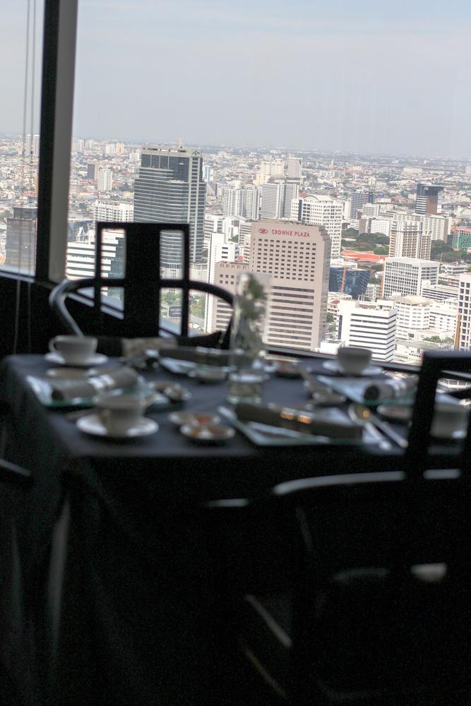 Banyan Tree Bangkok Hotel Restaurant Vertigo sky view rooftop Reiseblog