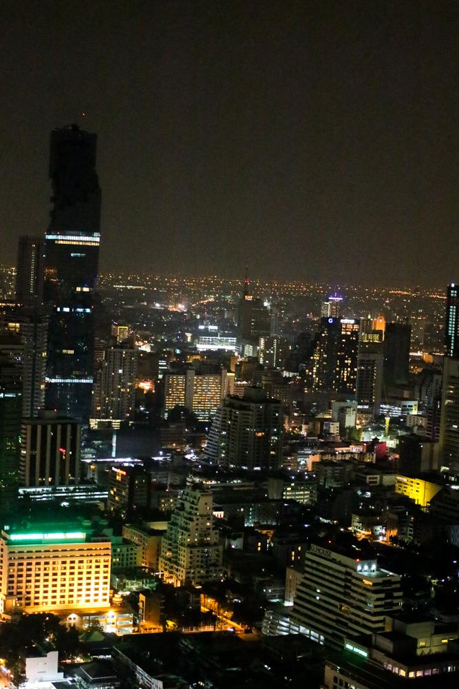 Restaurant Vertigo skyline rooftop Bangkok sightseeing Highlight Reiseblog Banyan Tree Bangkok Hotel