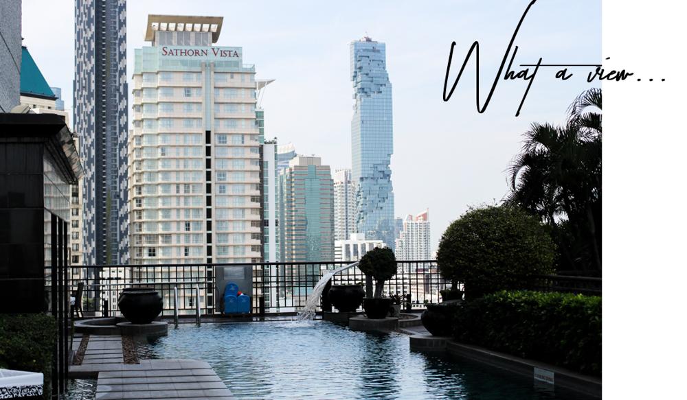 Banyan Tree Bangkok Hotel Pool Oase Thailand skyline Reiseblog_gimp