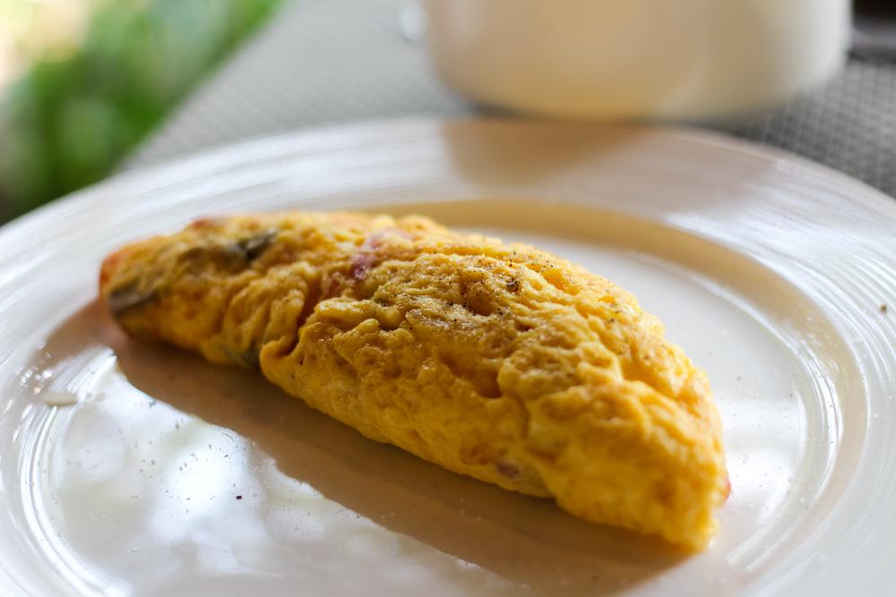 Chivapuri Beach Resort Hotel Koh Chang Thailand Omelette Frühstücksbuffet