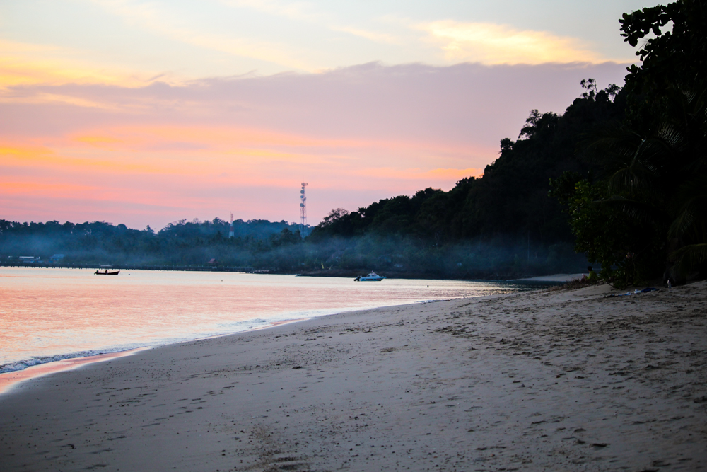 Koh Chang Klong Kloi Beach Traumstrand Thailand Sonnenuntergang schönste Strände