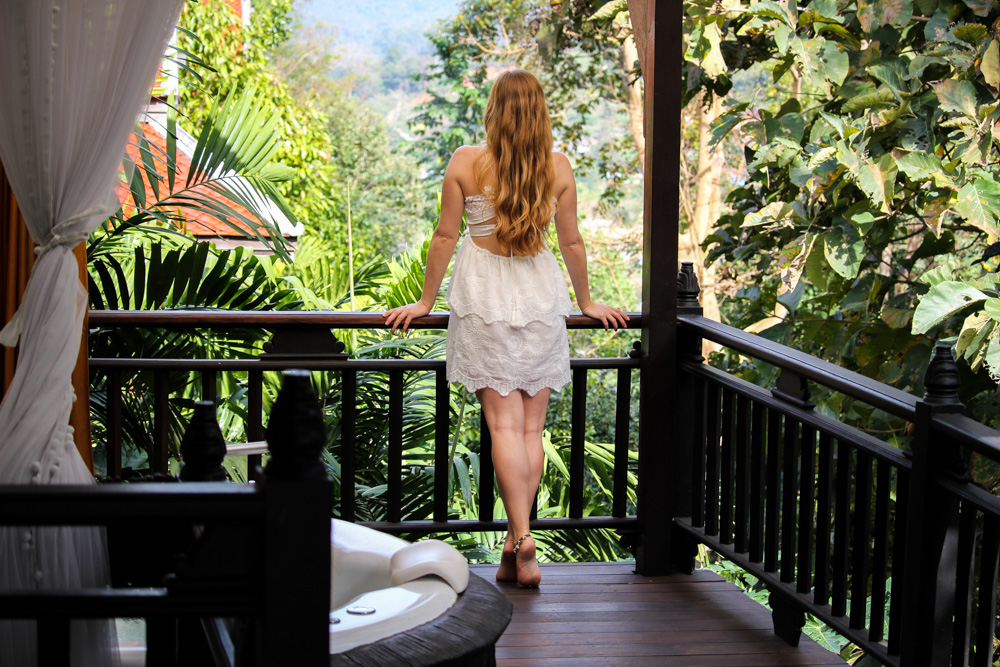 Panviman Spa Resort Hotel Chiang Mai Jacuzzi Villa Zimmer Thailand Reiseblog Jungle