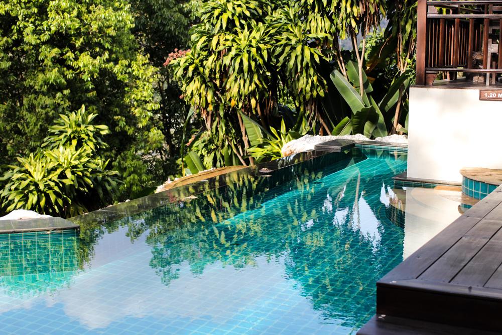 Panviman Spa Resort Hotel Chiang Mai private Pool Villa Zimmer Thailand Reiseblog