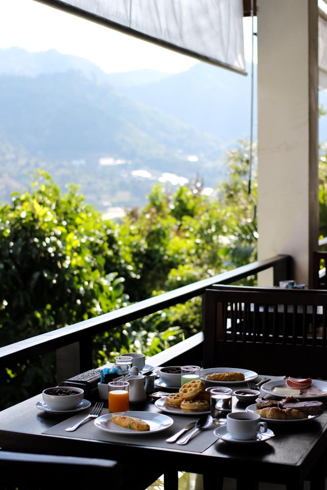Panviman Spa Resort Luxus Hotel Chiang Mai Thailand Reiseblog Frühstück Ausblick