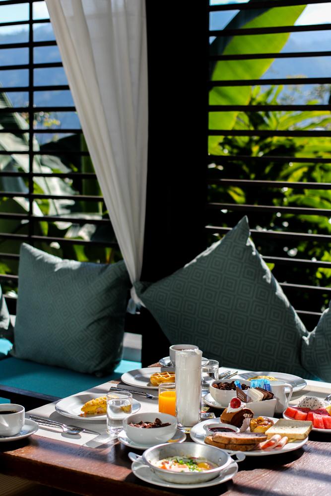 Panviman Spa Resort Luxus Hotel Chiang Mai Thailand Reiseblog Frühstück Breakfast