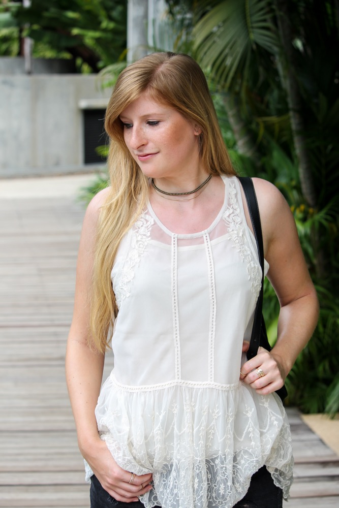 Thailand Sightseeing Outfit Lederrucksack Zalando Hotpants OOTD Modeblog