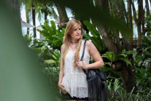 Thailand Sightseeing Outfit Lederrucksack Zalando OOTD Modeblog t