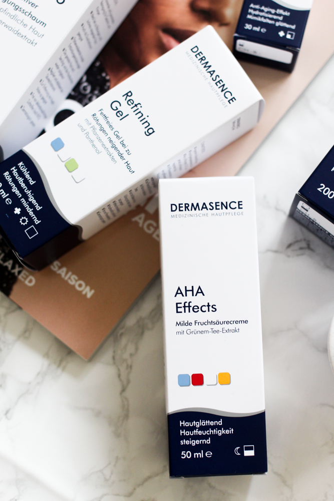 Winter Hautpflege Dermasence Feuchtigkeitscreme AHA Effekt Refining Gel Beautyblog