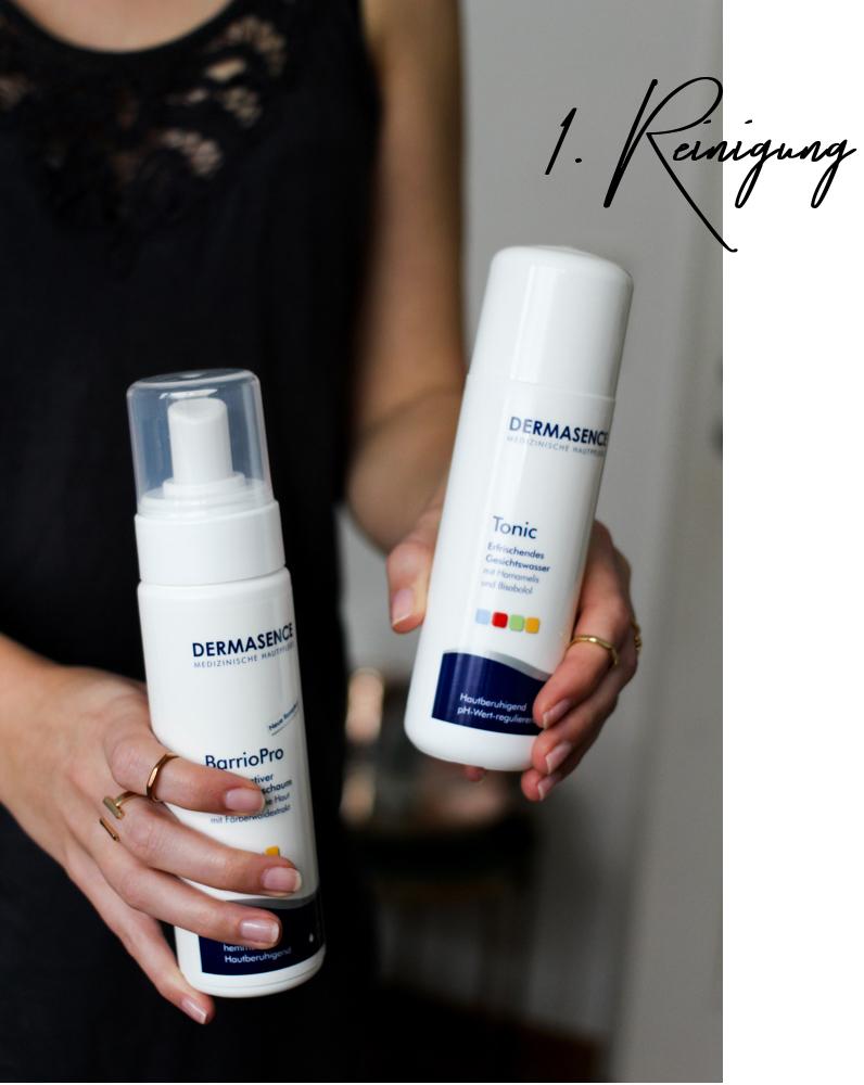 Winter Hautpflege Reinigung Dermasence besonders trockene gereizte Haut Beautyblog Erfahrungsbericht