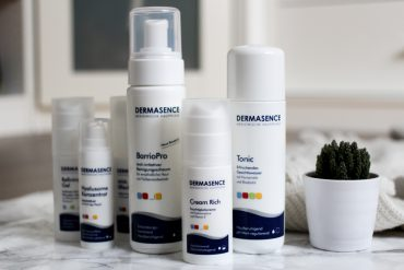 Winter Hautpflege Set Dermasence besonders trockene gereizte Haut Beautyblog Erfahrungsbericht