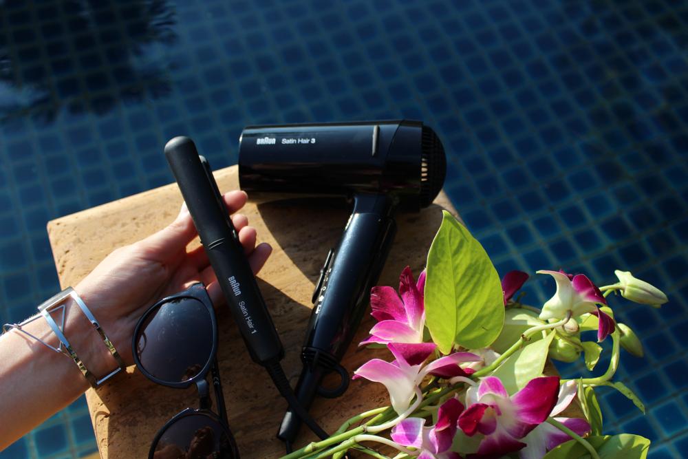 Braun Style&Go Collection Mini-Haarglätter Haartrockner Reisegröße Reisegepäck Styling Tipp Urlaub Pool