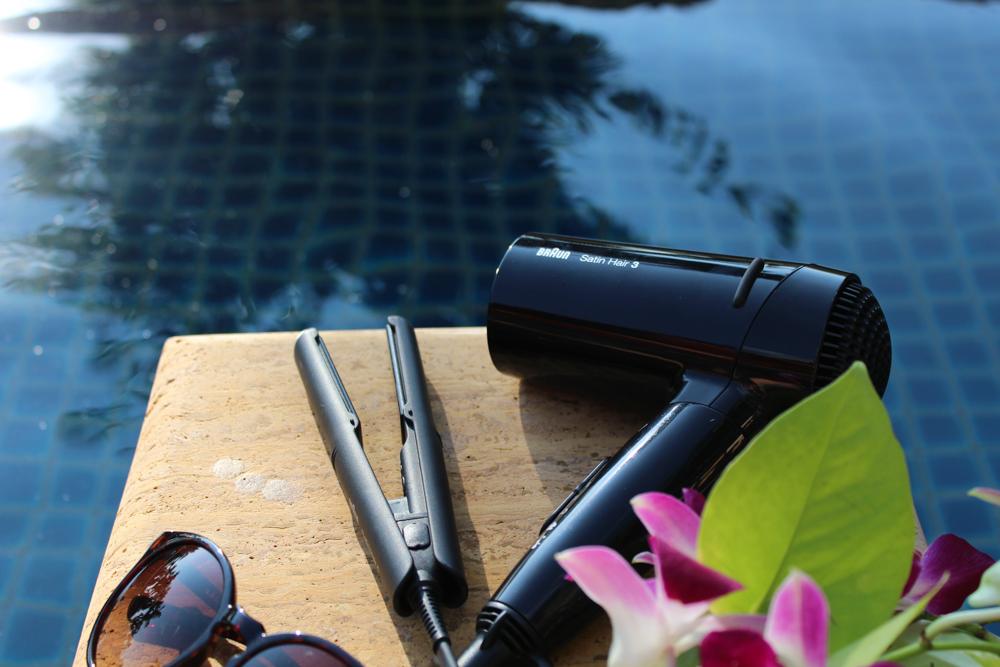 Braun Style&Go Collection Mini-Haarglätter Haartrockner Reisegröße Reisegepäck Urlaub Sonnenbrille