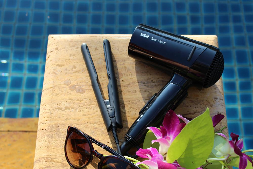 Braun Style&Go Collection Mini-Haarglätter kleiner Haartrockner Reisegröße Reisegepäck Styling Tipp Urlaub 1