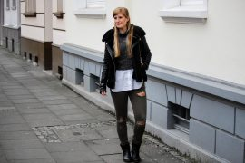 Casual Streetstyle Crop Top Pullover Layering Bluse Fashion Blogger Köln Outfit t
