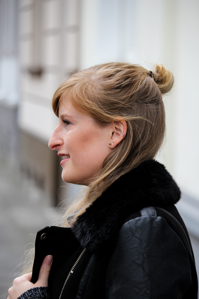 Fashion Blogger BrinisFashionBook Modeblogger Half Bun Frisur Trend Blogger Köln