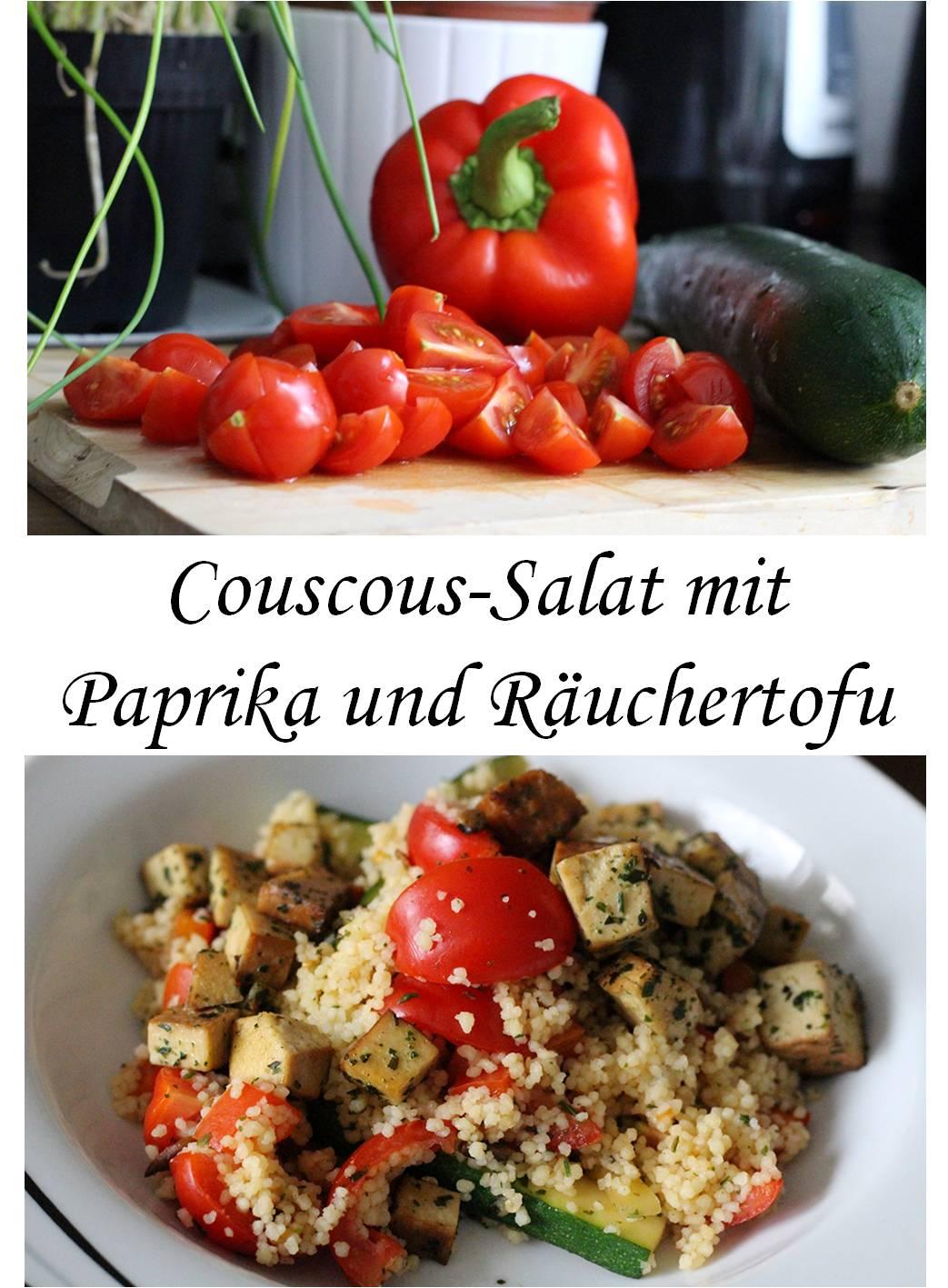 Rezept Couscous-Zuccini-Salat Paprika Räuchertofu vegan schnelles Rezept food
