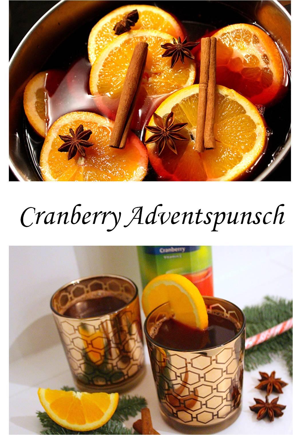 Rezept Mäelsabend cocktail weihnachten Cranberry Adventspunsch