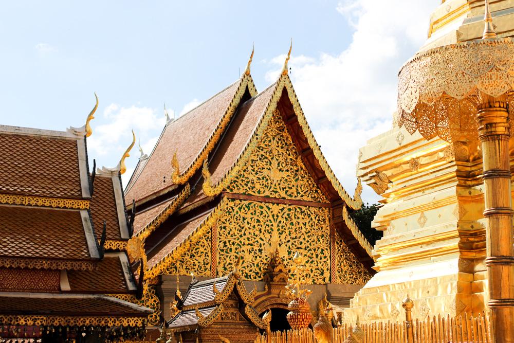 Thailand Rundreise Route Chiang Mai Ausblick Reiseblog Travelbloggger Wat Phra That Doi Suthep 2