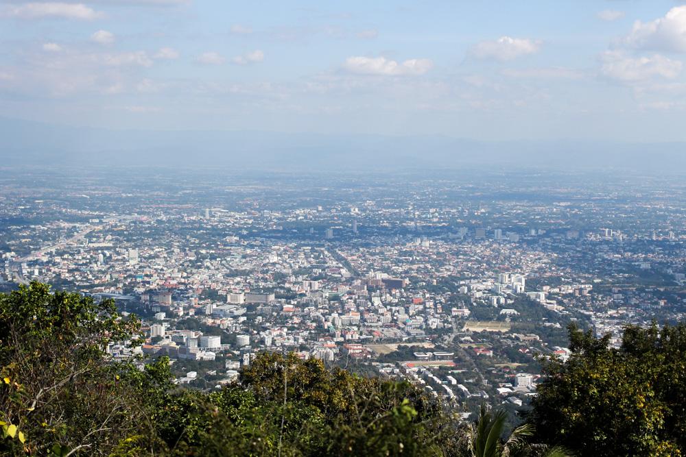 Thailand Rundreise Route Chiang Mai Ausblick Reiseblog Travelbloggger Wat Phra That Doi Suthep
