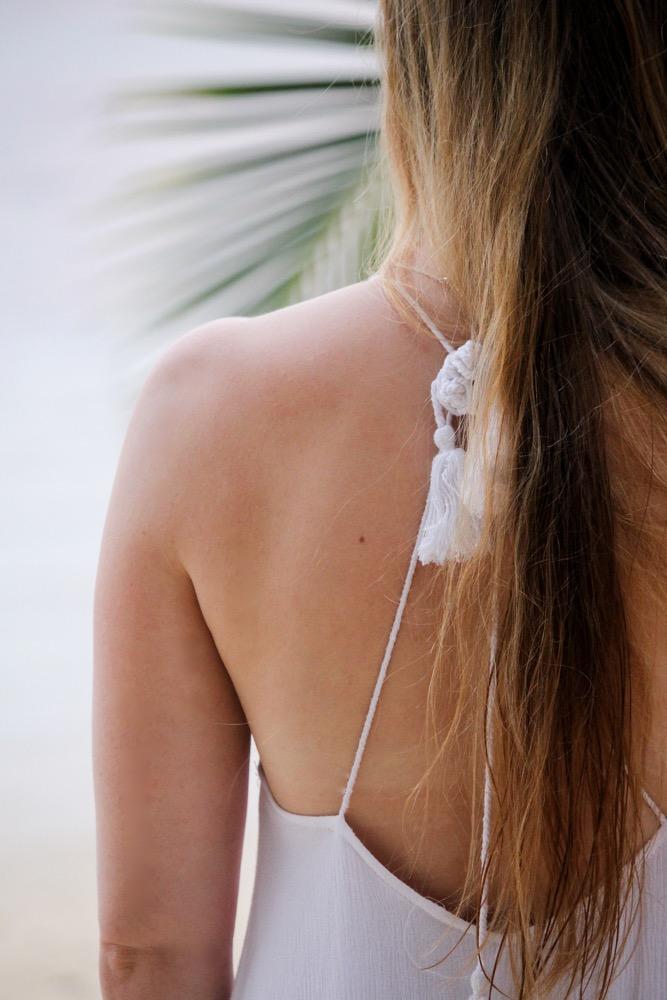 Weißes Strandkleid rückenfrei Strandlook Koh Chang Modeblog Outfit Thailand 9