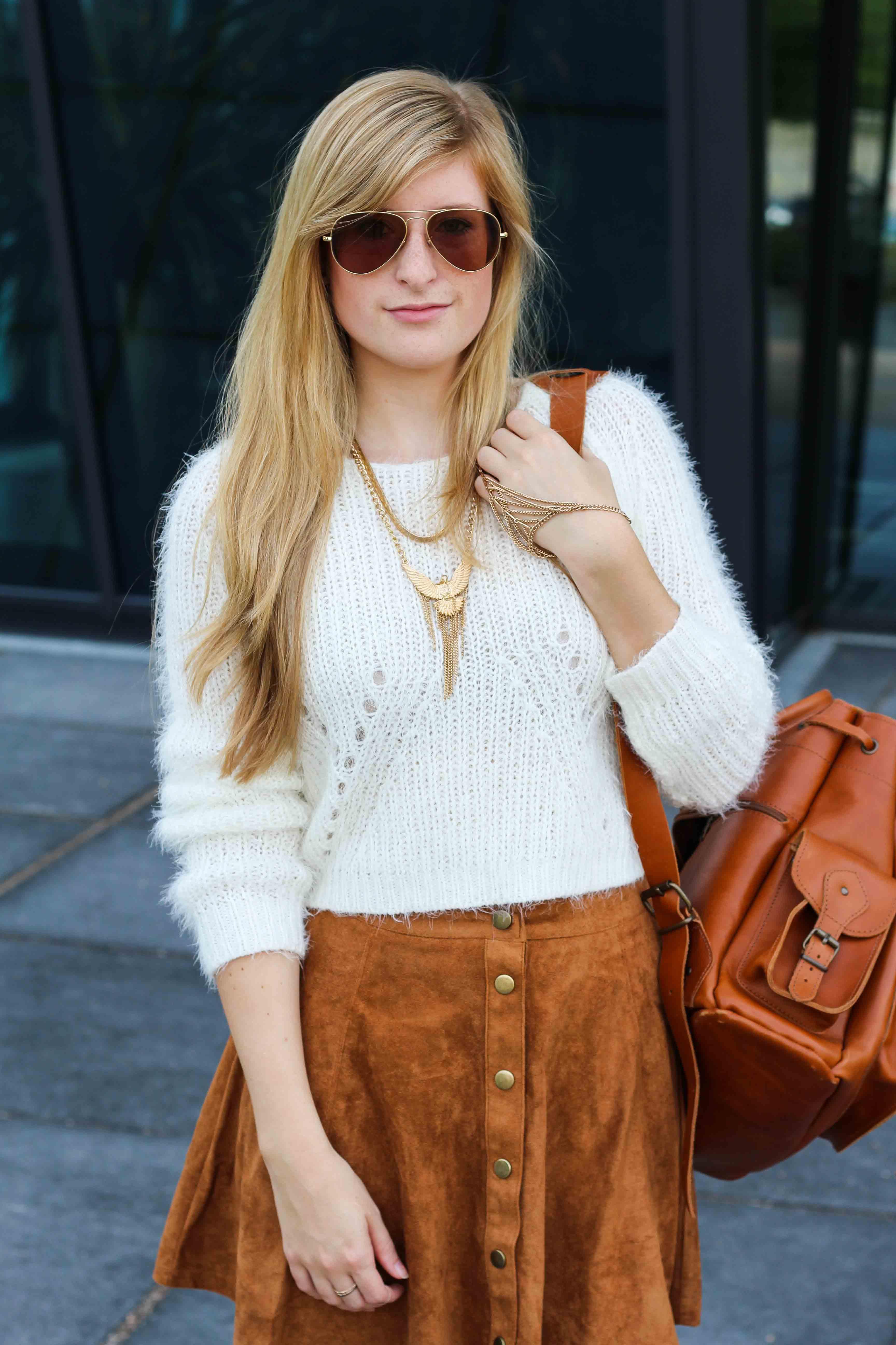 Modeblog Koln Kolnbloggt Wildleder A Linien Rock Crop Top