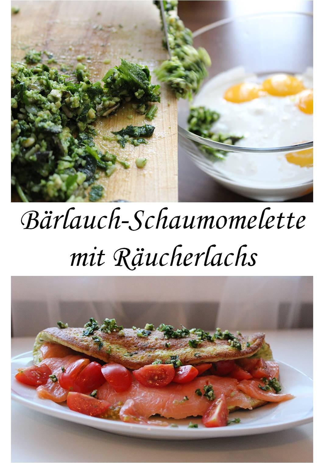 rezept Bärlauch-Schaumomelette mit Räucherlachs food anleitung schnell lecker kochen