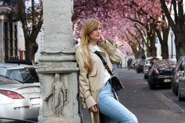 Edited Trenchcoat MOM Jeans Streetstyle Blog Kirschblüten Heerstraße Bonn Outfit t