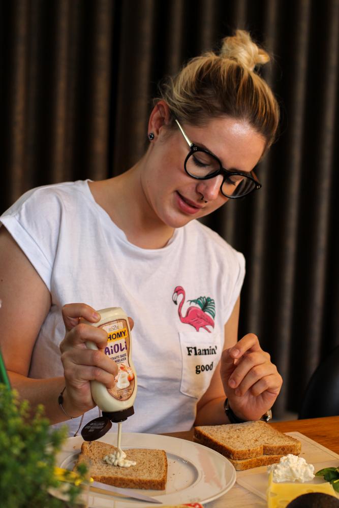Herta Finesse Blogger Workshop Signature Sandwich Thomy Aioli Knoblauch Sosse Rezept Golden Toast