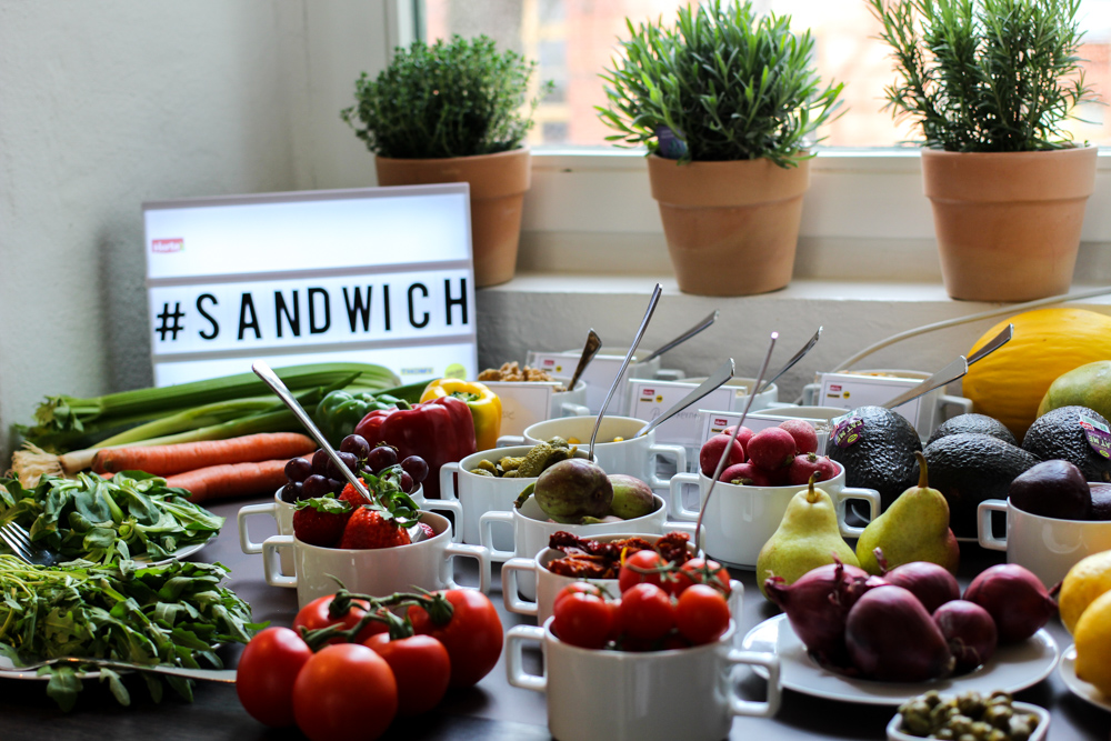 Herta Finesse Blogger Workshop Signature Sandwich Zuaten Tomaten Feigen Salat Erdbeeren Food
