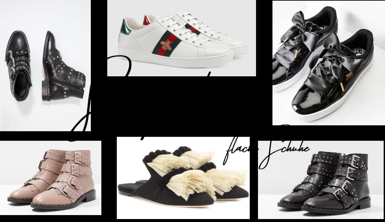 SChuhtrends 2017 Shopping flache Schuhe Hingucker Sneaker Boots nieten