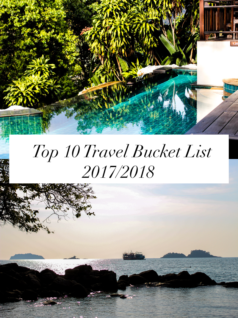 Meine Top 10 Travel Bucket List für 2017:2018