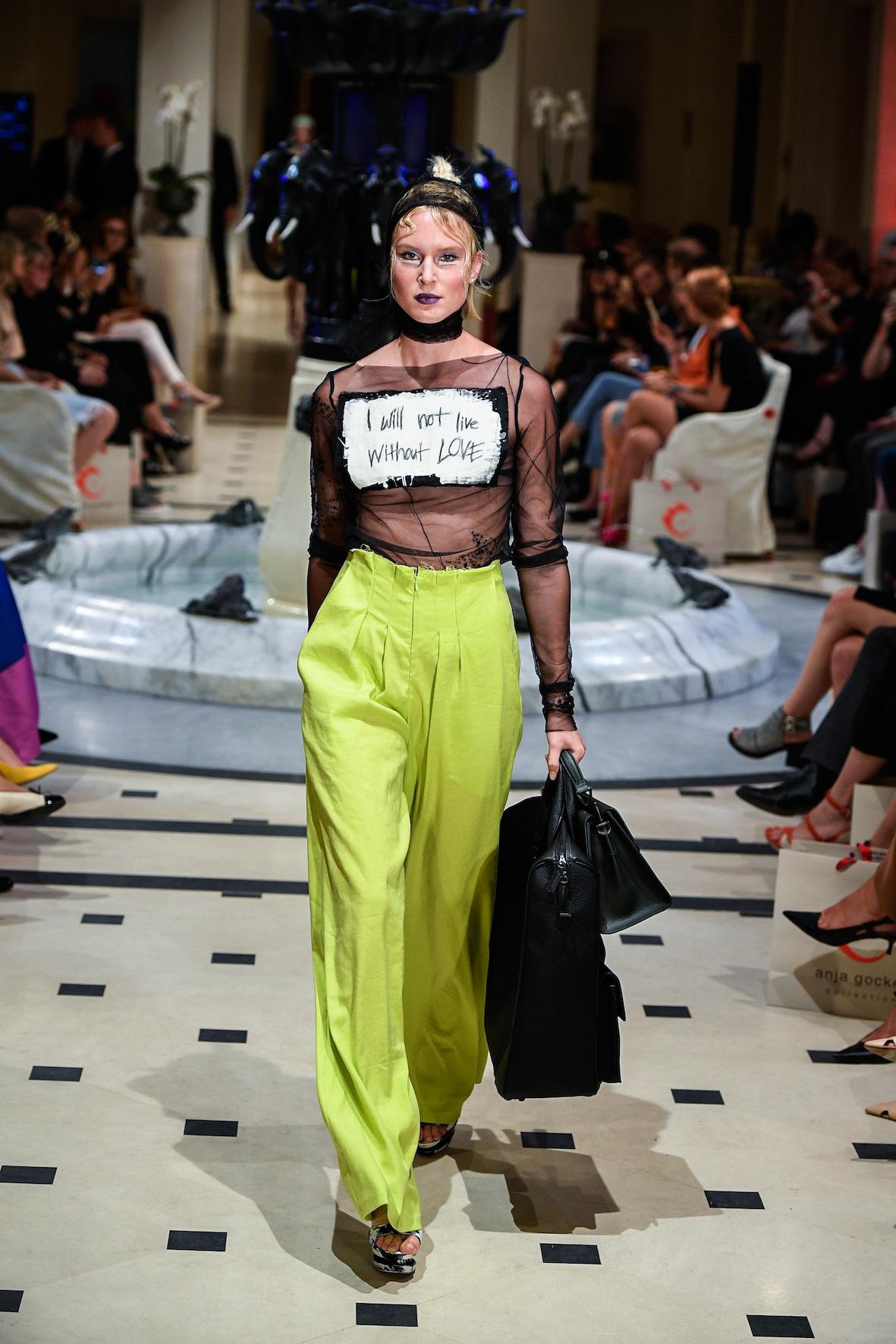 Anja Gockel S18 Statement Fashion Week Berlin 2018 Frühling Sommer Modeblog