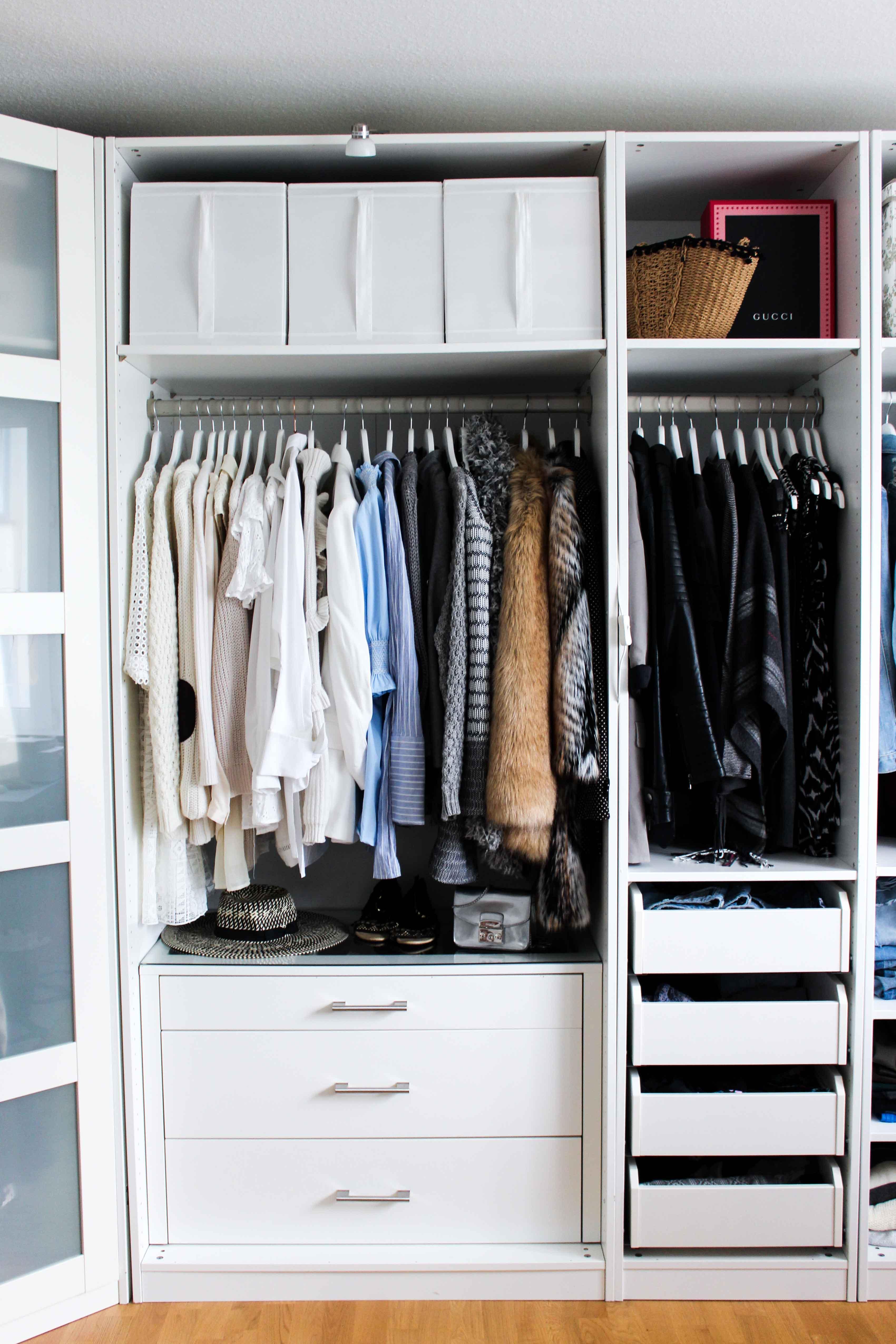 Ikea schrank offen  Mein Ankleidezimmer & Tipps für den PAX Kleiderschrank ...