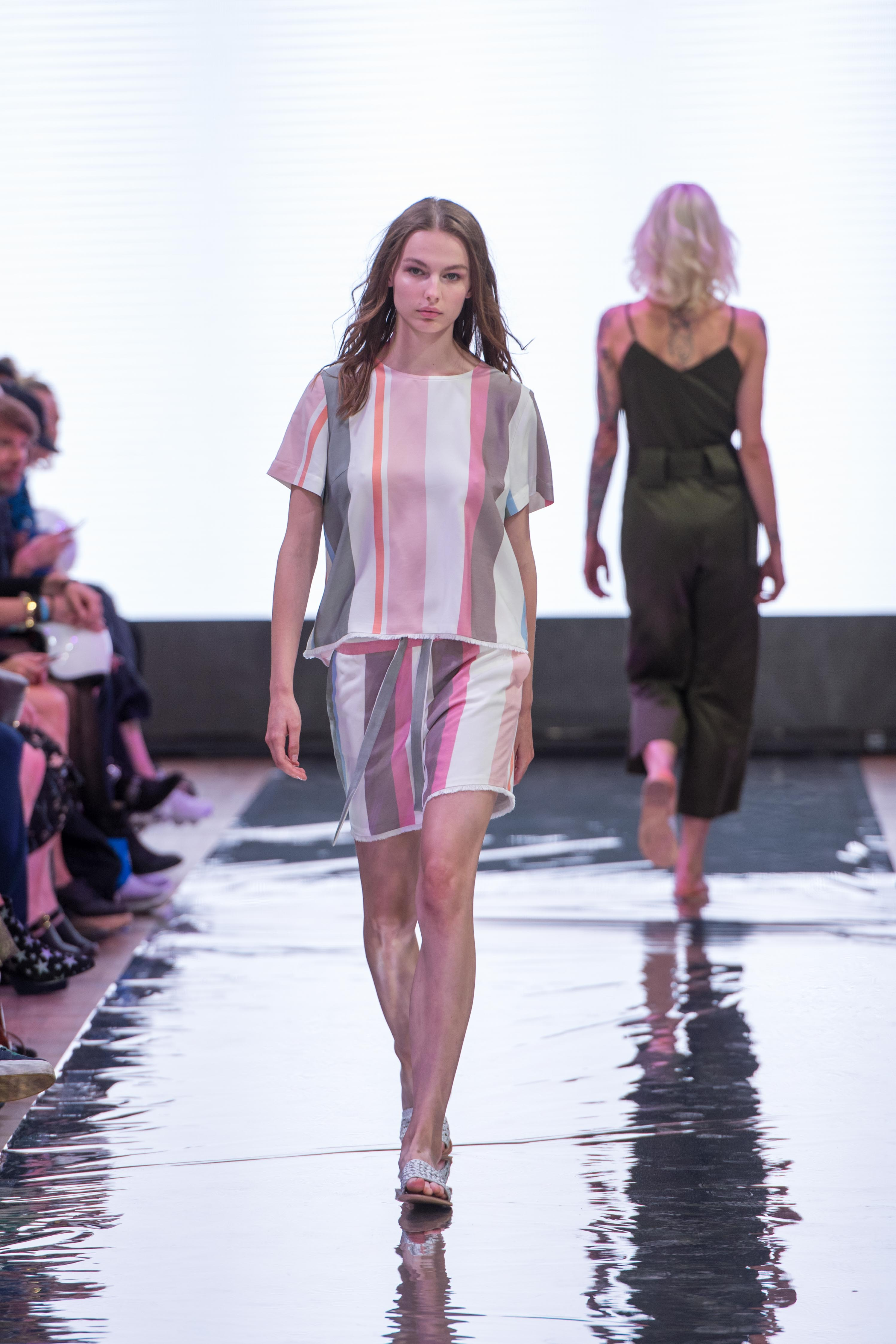S18 Fashion Week Berlin 2018 Frühling Sommer Modeblog MYKKE HOFMANN Holy Ghost Sommertrend 2018 Streifen 5