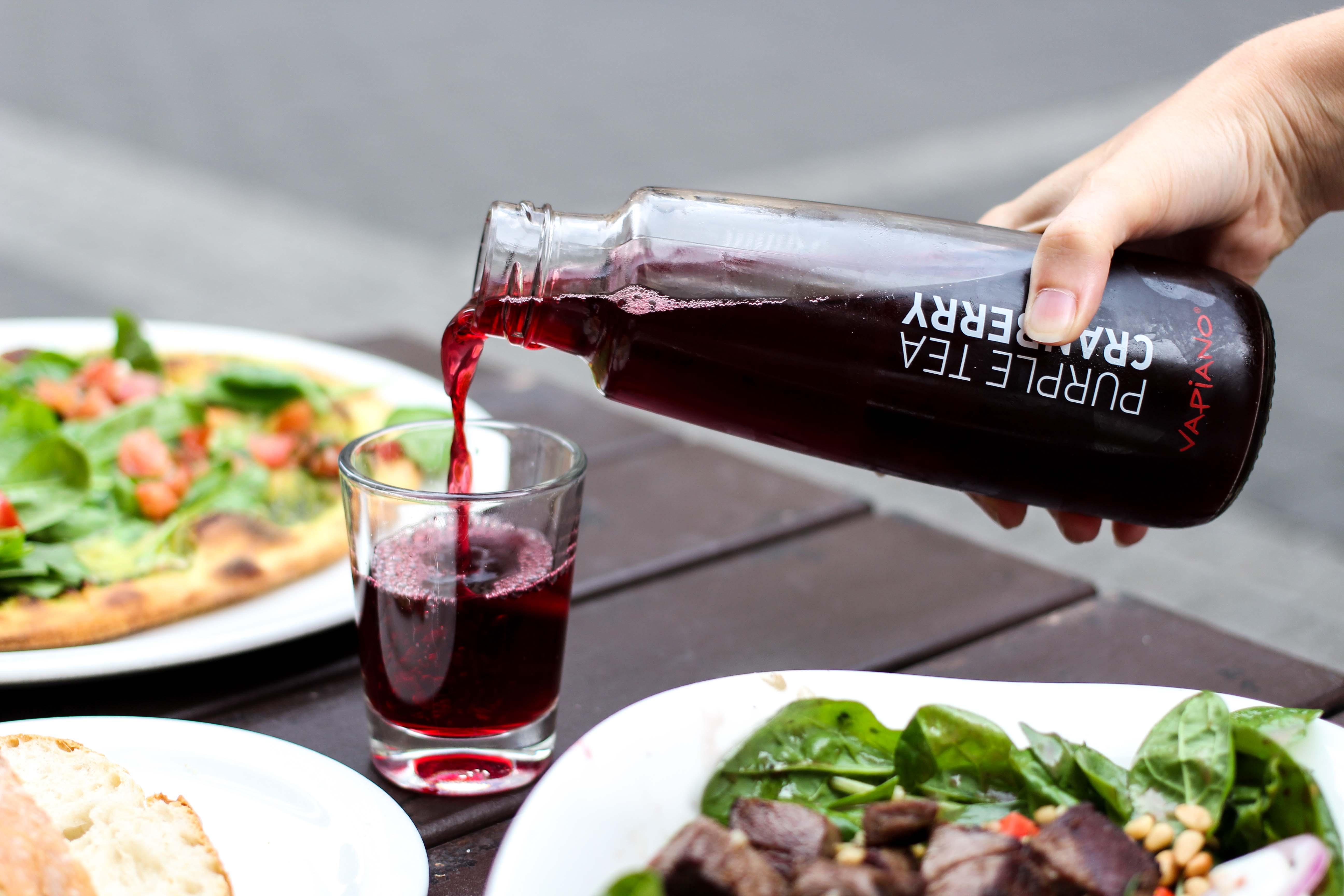 Vapiano Bonn Blogger Ice Tea Purple Tea Cranberry Neu Gesund frisch Essen gehen Bonn 4