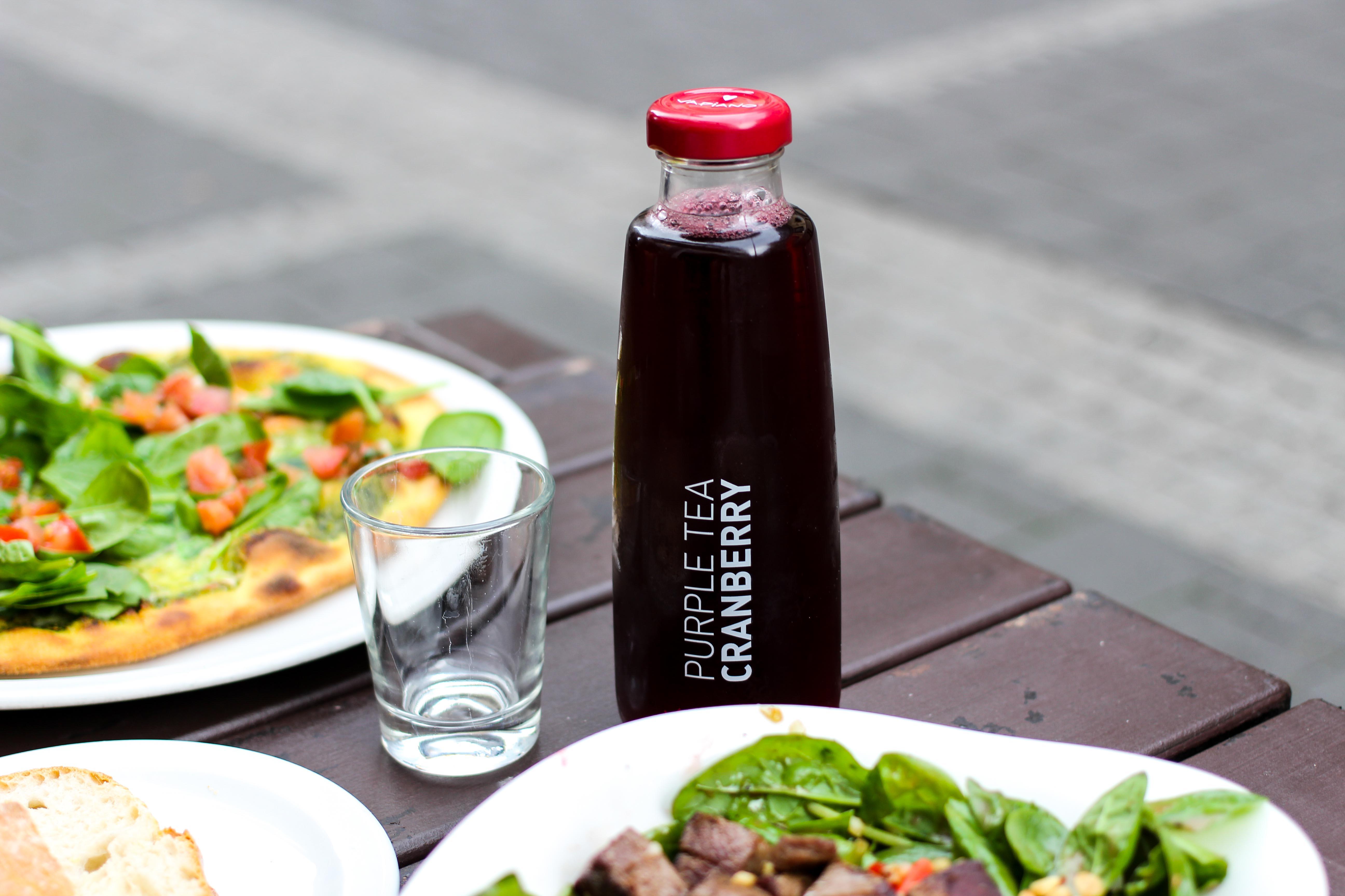 Vapiano Bonn Blogger Ice Tea Purple Tea Cranberry Neu Gesund frisch Essen gehen Bonn
