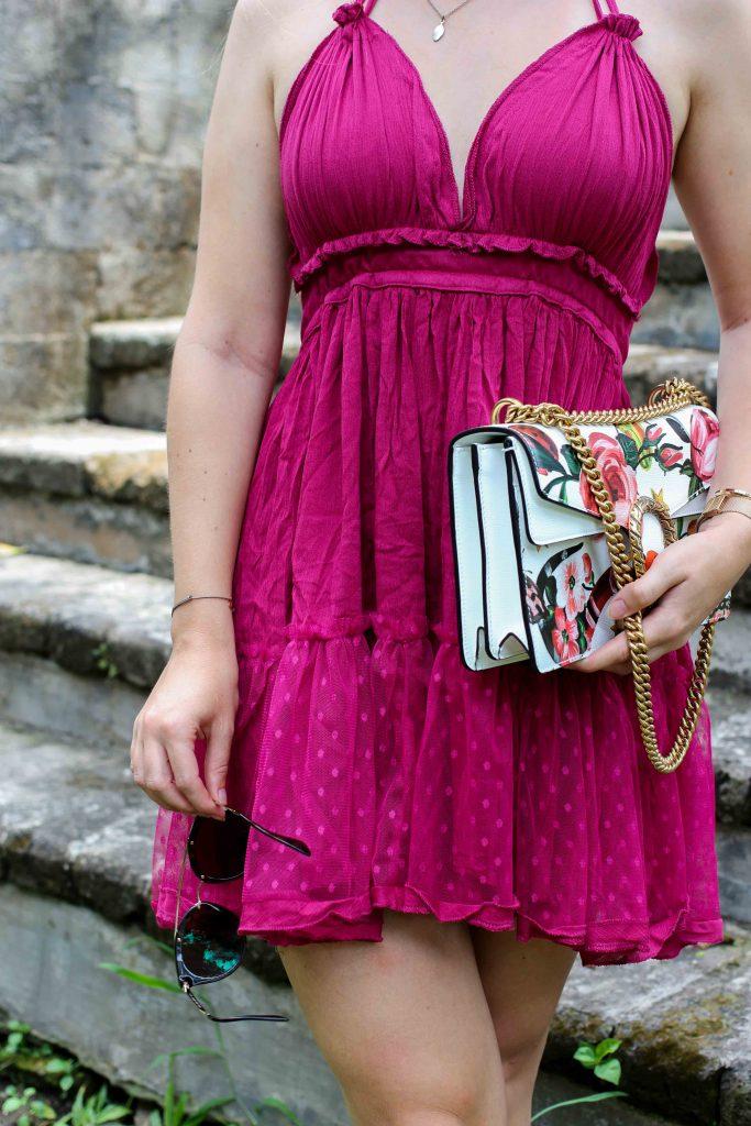 Pinkes Neckholder Kleid kombinieren Sommeroutfit Bali ...