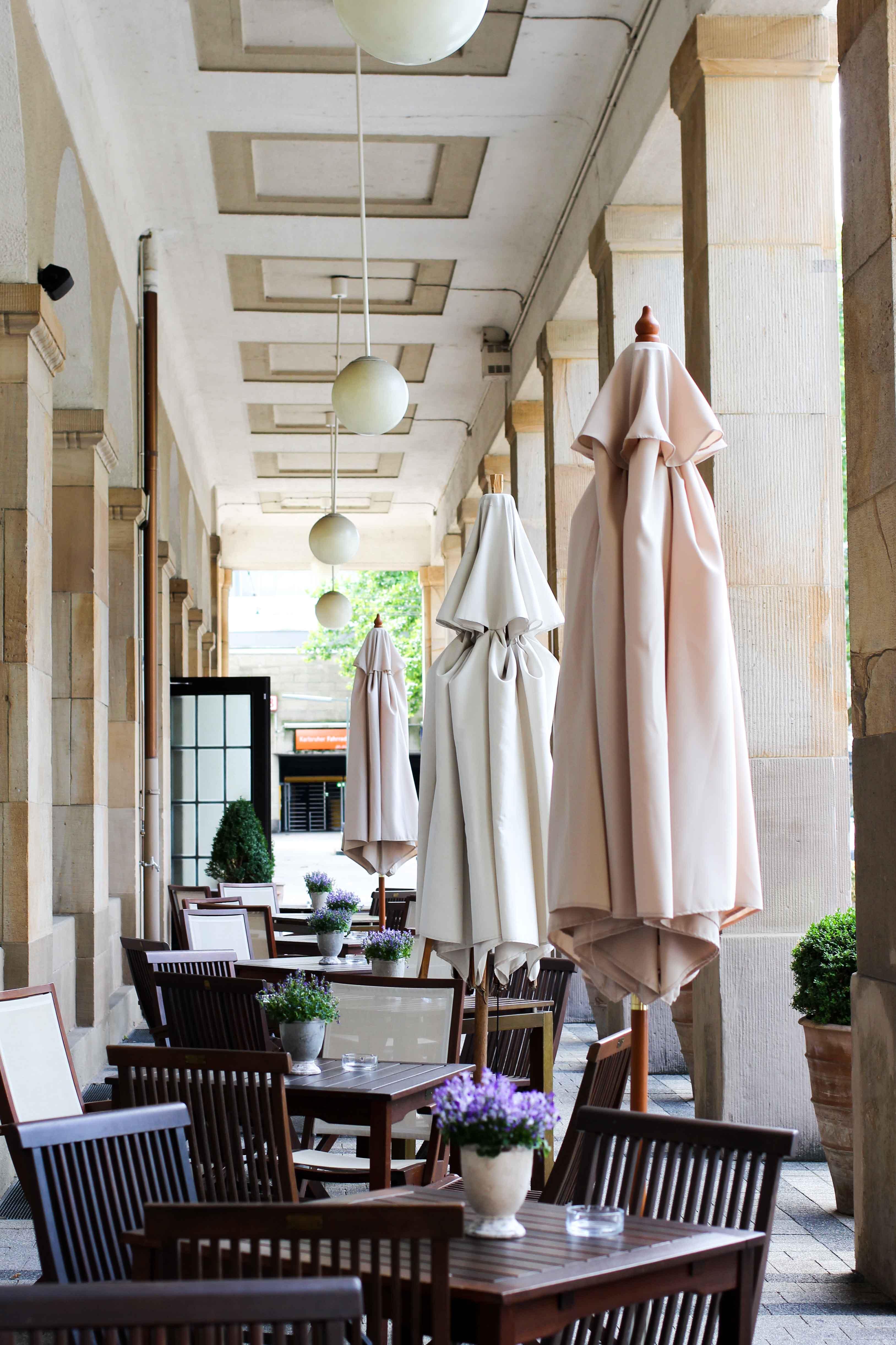 Schlosshotel Karlsruhe Terrasse Luxushotel Hotel Review Reiseblog Brinisfashionbook