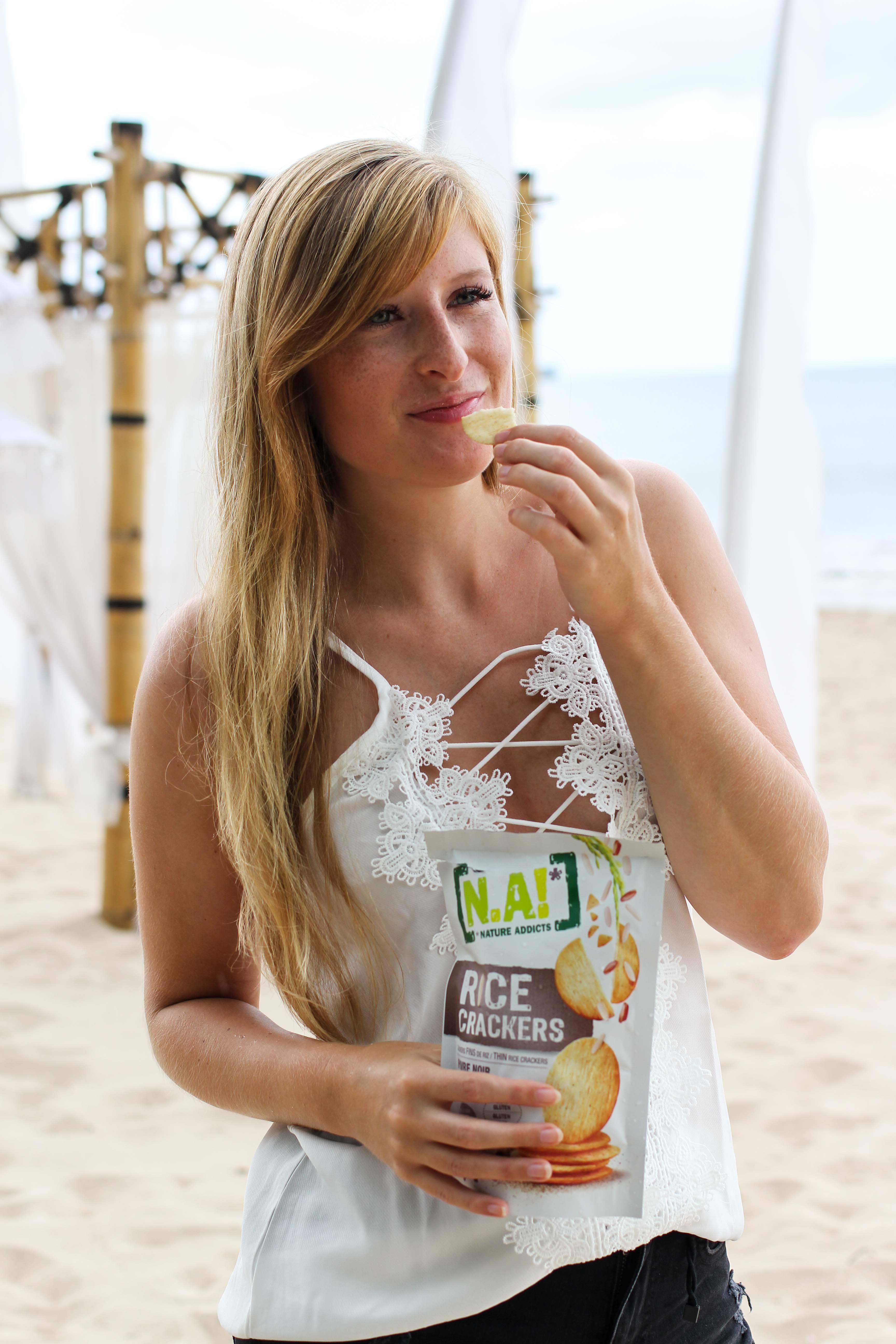 Nature Addicts N.A. Snacks Rice Cracker vegan glutenfrei ohne Zusatzstoffe Tipps fürs Handgepäck bei Flugreisen Reiseblog BrinisFashionBook 2