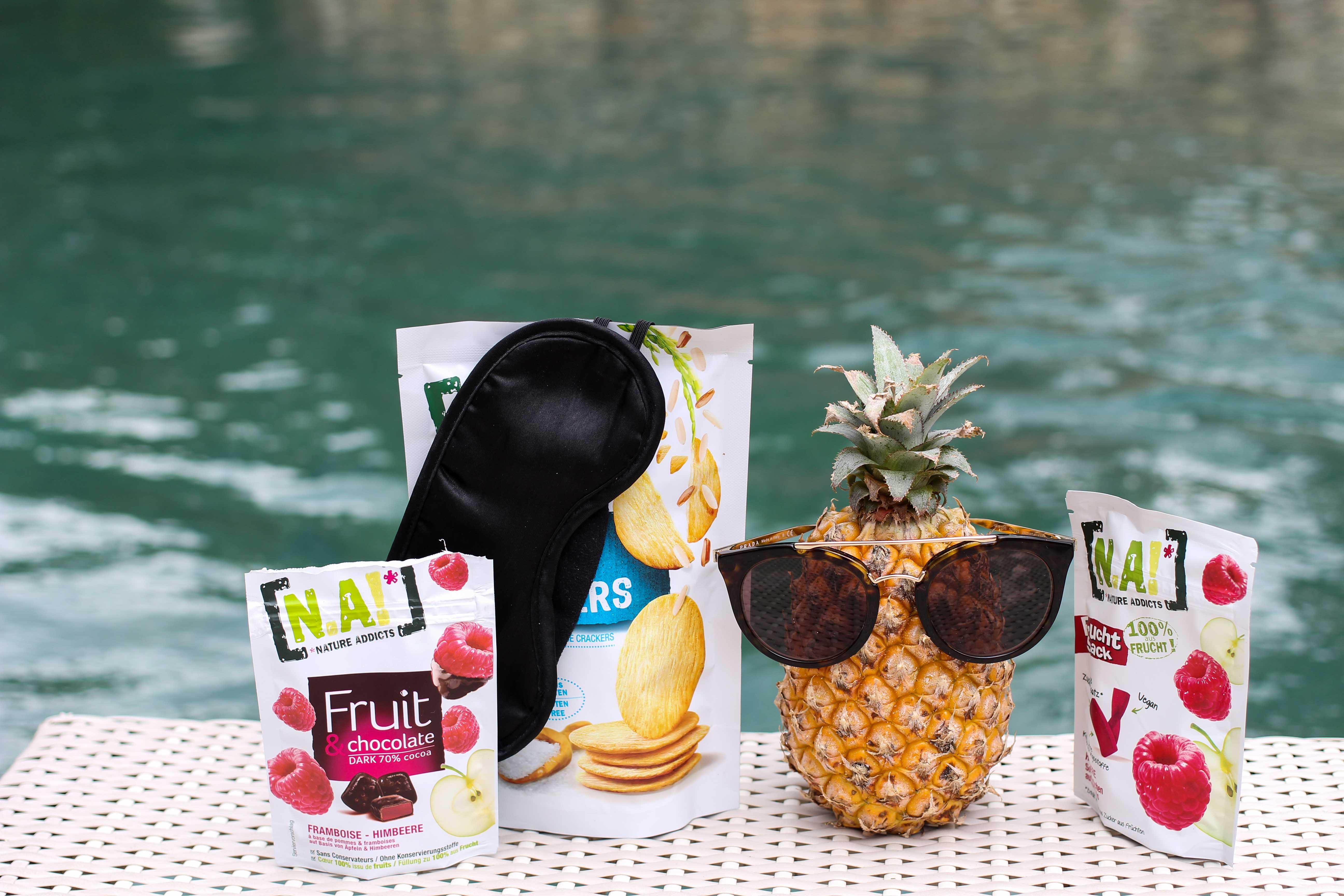 Nature Addicts N.A. Snacks vegan glutenfrei ohne Zusatzstoffe Tipps fürs Handgepäck bei Flugreisen Reiseblog BrinisFashionBook 2