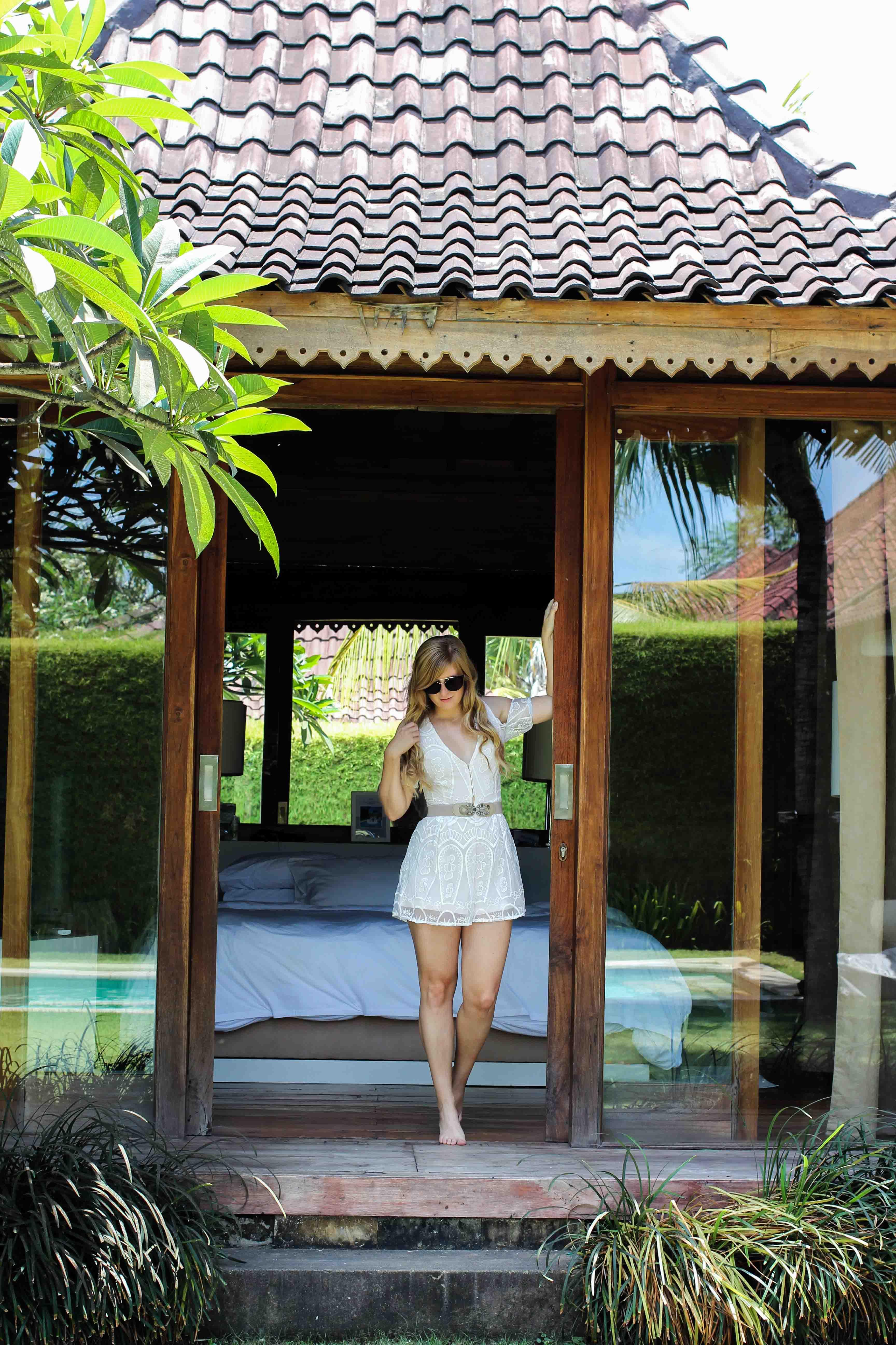 Sahana Villas Seminyak Poolvilla 3 Bedroom Seminyak Bali Luxusvilla mieten privater Pool Reiseblogger Brinisfashionbook