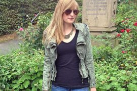 Studded Streetstyle Look jacke nieten Lookbook Modeblog Bonn Outfit Herbst Ripped Jeans