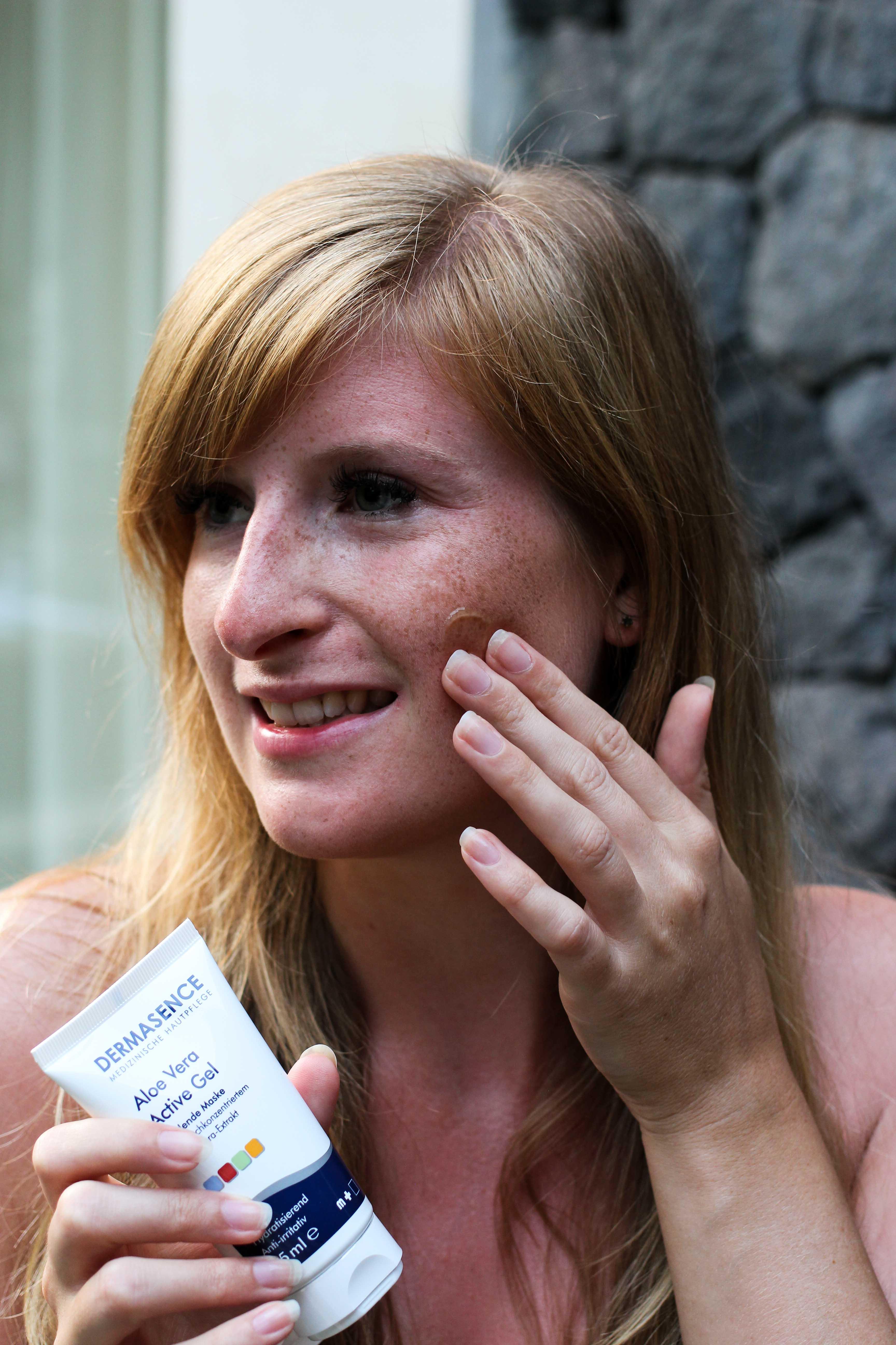 Urlaubs-Hautpflege Sommerurlaub trockene empfindliche Haut Dermasence Aloe Vera Active Gel After Sun Pflege Beauty Blog Bali