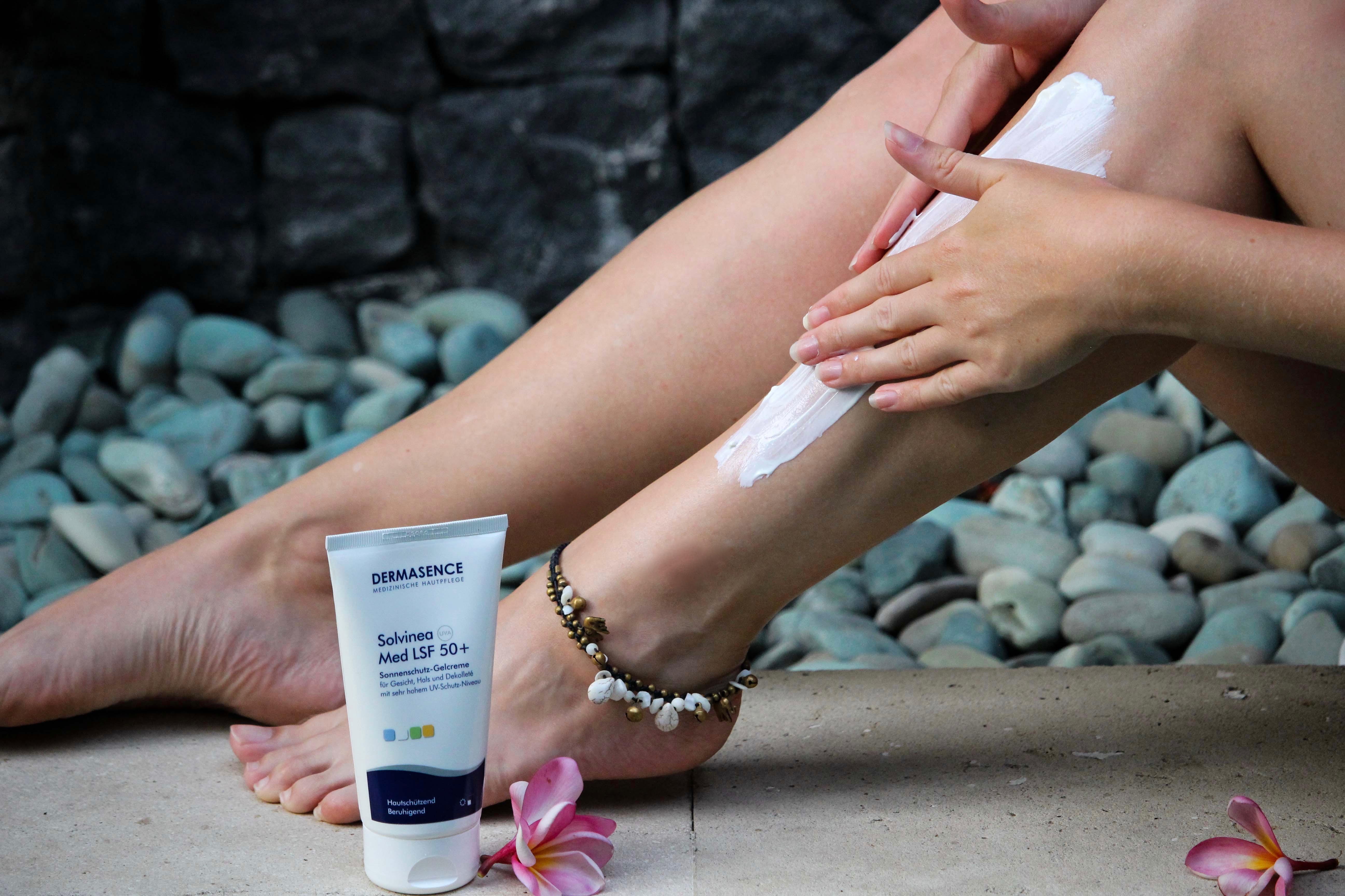 Urlaubs-Hautpflege Sommerurlaub trockene empfindliche Haut Dermasence Sonnencreme Solevina Med LSF 50+ Beauty Blog Bali (1)