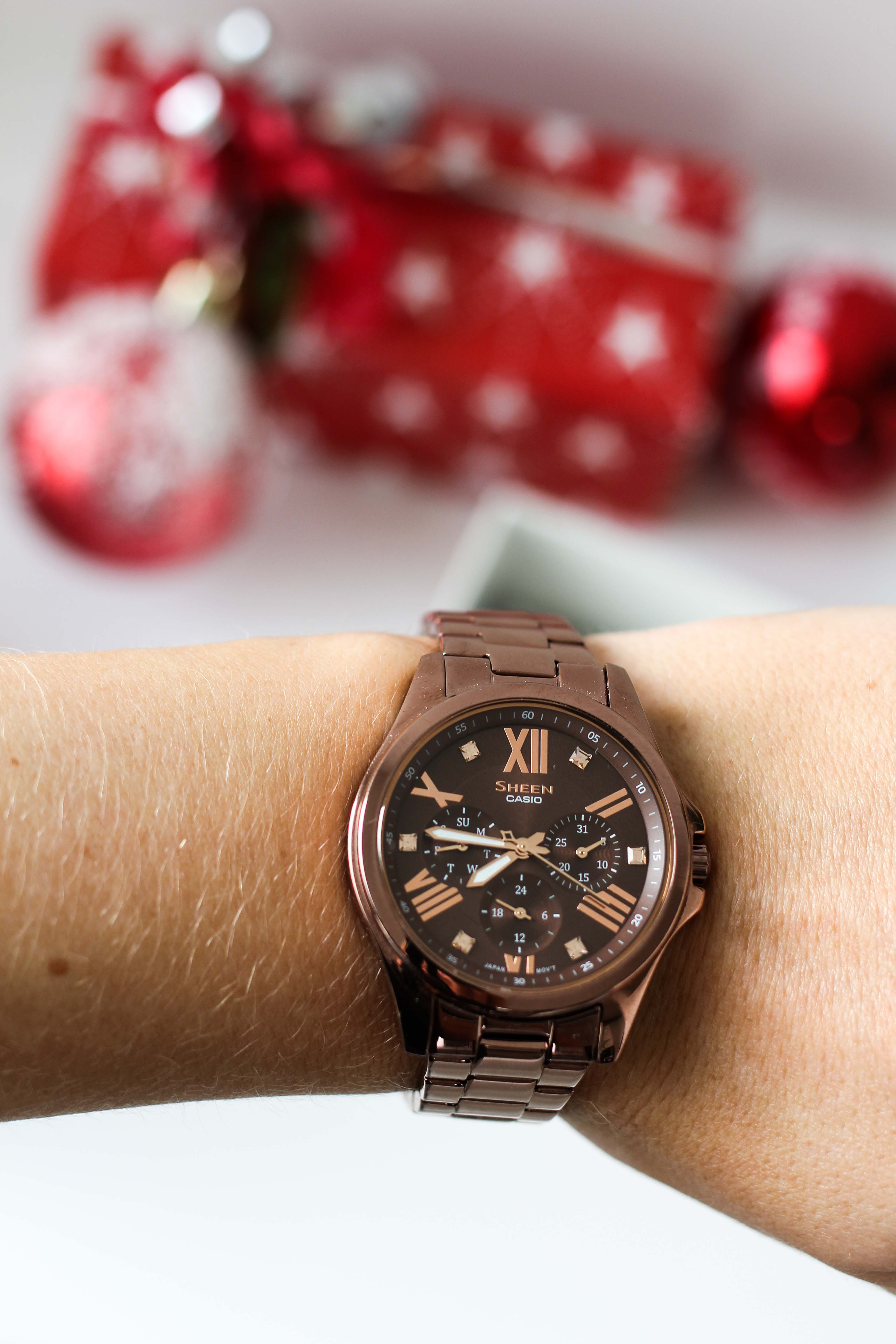 Adventskalender Blog Fashion Blog Deutschland Gewinne Sheen by Casio Damenuhr in Roségold Braun Gewinnspiel Geschenkidee Weihnachten 4